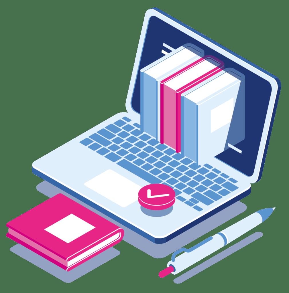 Online leren via online cursus, training of workshop